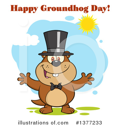 Groundhog Clipart #1377233 by Hit Toon