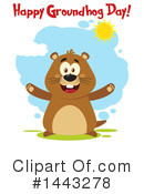 Groundhog Clipart #1443278 by Hit Toon