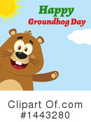 Groundhog Clipart #1443280 by Hit Toon