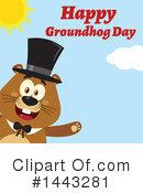 Groundhog Clipart #1443281 by Hit Toon
