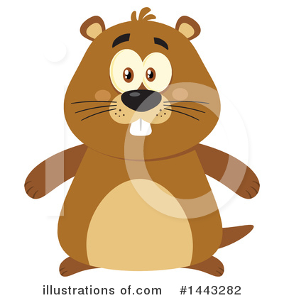 Groundhog Clipart #1443282 by Hit Toon