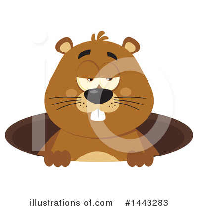 Groundhog Clipart #1443283 by Hit Toon