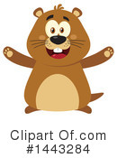 Groundhog Clipart #1443284 by Hit Toon