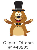 Groundhog Clipart #1443285 by Hit Toon