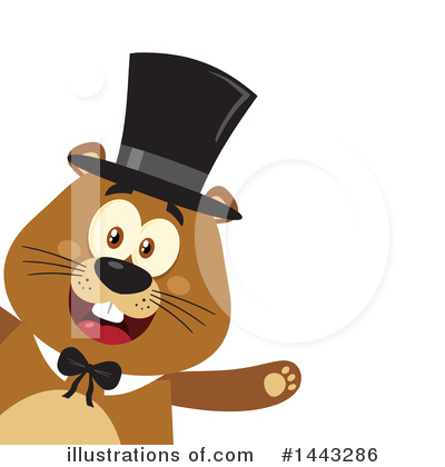 Groundhog Clipart #1443286 by Hit Toon