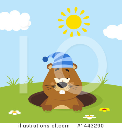 Groundhog Clipart #1443290 by Hit Toon