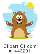 Groundhog Clipart #1443291 by Hit Toon