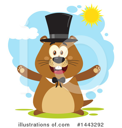 Groundhog Clipart #1443292 by Hit Toon