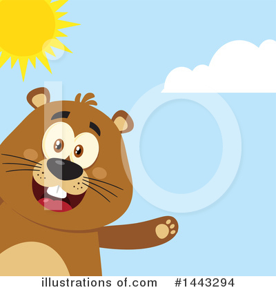 Groundhog Clipart #1443294 by Hit Toon