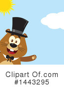 Groundhog Clipart #1443295 by Hit Toon