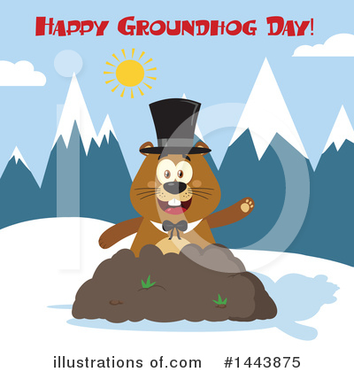 Groundhog Clipart #1443875 by Hit Toon