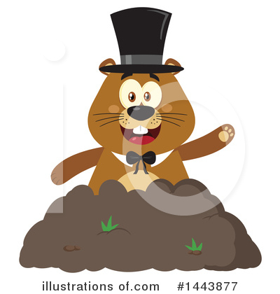 Groundhog Clipart #1443877 by Hit Toon