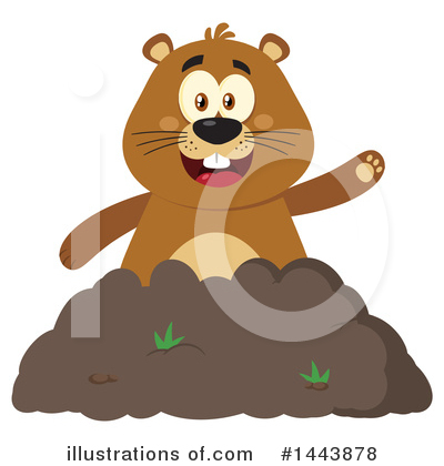Royalty-Free (RF) Groundhog Clipart Illustration by Hit Toon - Stock Sample #1443878