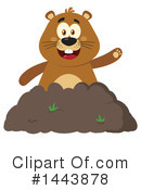 Groundhog Clipart #1443878 by Hit Toon