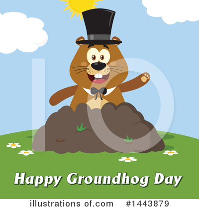 Groundhog Clipart #1443879 by Hit Toon
