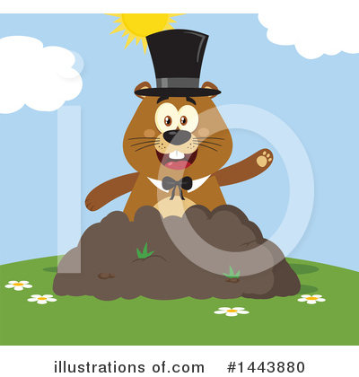 Groundhog Clipart #1443880 by Hit Toon