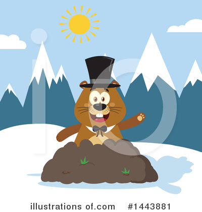 Groundhog Clipart #1443881 by Hit Toon
