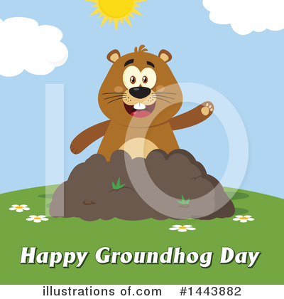 Groundhog Clipart #1443882 by Hit Toon