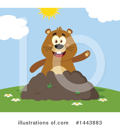 Groundhog Clipart #1443883 by Hit Toon