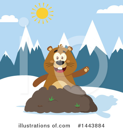 Groundhog Clipart #1443884 by Hit Toon