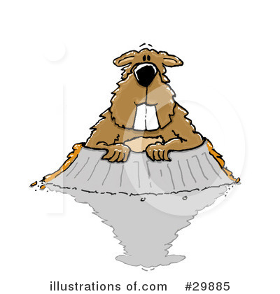 Groundhog Clipart #29885 by Spanky Art