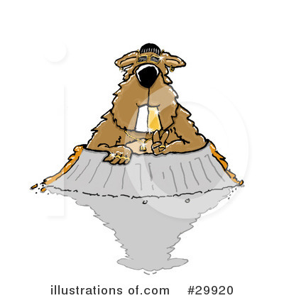 Groundhog Clipart #29920 by Spanky Art