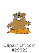 Royalty-Free (RF) Groundhog Clipart Illustration #29923
