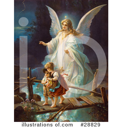 Royalty-Free (RF) Guardian Angel Clipart Illustration by OldPixels - Stock Sample #28829