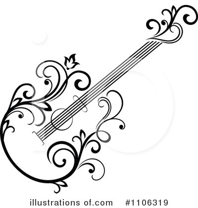 Guitar Clipart #1106319 by Vector Tradition SM