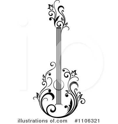 Guitar Clipart #1106321 by Vector Tradition SM