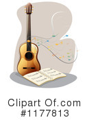 Royalty-Free (RF) Guitar Clipart Illustration #1177813