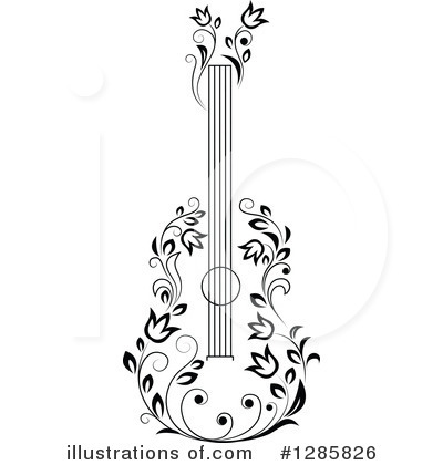 Guitar Clipart #1285826 by Vector Tradition SM