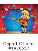 Royalty-Free (RF) Guitar Clipart Illustration #1400557