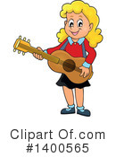 Royalty-Free (RF) Guitar Clipart Illustration #1400565