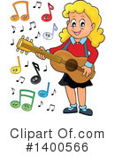 Royalty-Free (RF) Guitar Clipart Illustration #1400566