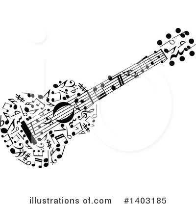 Guitar Clipart #1403185 by Vector Tradition SM