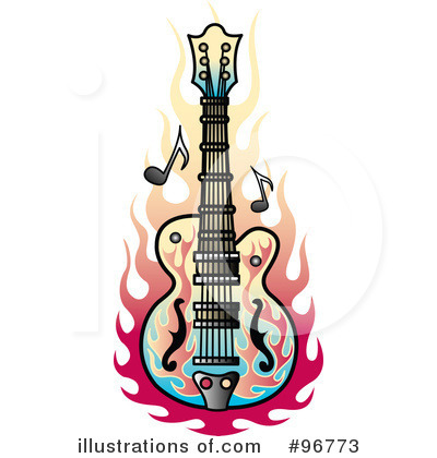 Royalty free rf guitar clipart illustration by andy nortnik stock