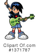 Royalty-Free (RF) Guitarist Clipart Illustration #1371787