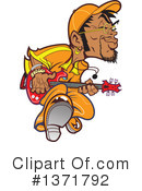 Royalty-Free (RF) Guitarist Clipart Illustration #1371792