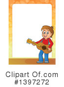 Royalty-Free (RF) Guitarist Clipart Illustration #1397272
