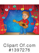 Royalty-Free (RF) Guitarist Clipart Illustration #1397276