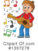 Royalty-Free (RF) Guitarist Clipart Illustration #1397278