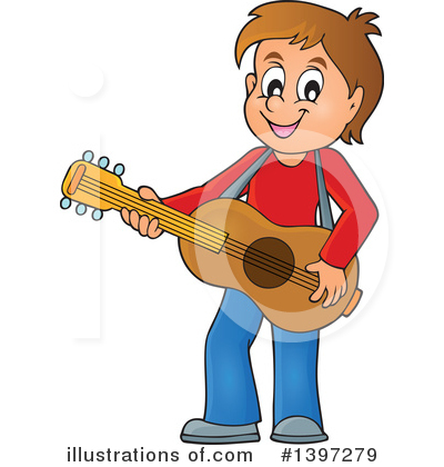 Royalty-Free (RF) Guitarist Clipart Illustration by visekart - Stock Sample #1397279