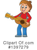 Royalty-Free (RF) Guitarist Clipart Illustration #1397279
