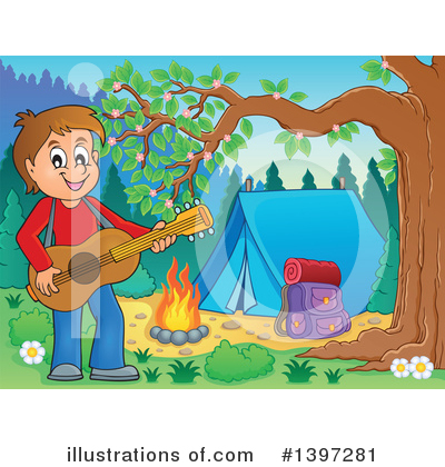 Guitarist Clipart #1397281 by visekart