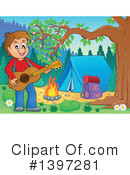 Royalty-Free (RF) Guitarist Clipart Illustration #1397281