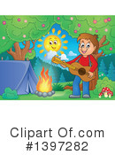 Royalty-Free (RF) Guitarist Clipart Illustration #1397282
