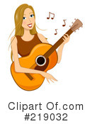 Royalty-Free (RF) Guitarist Clipart Illustration #219032