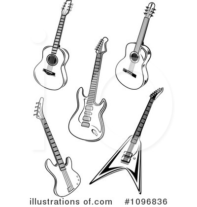 Royalty free rf guitars clipart illustration by seamartini graphics