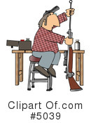 Royalty-Free (RF) Gun Clipart Illustration #5039